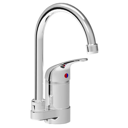 Turn monoblock single lever mixer tap