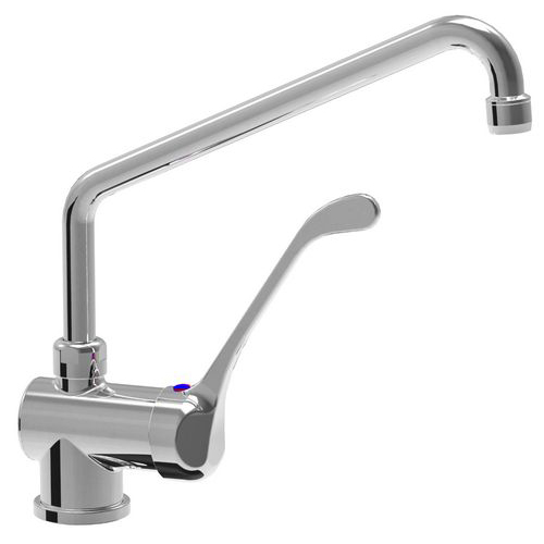 Monoblock single lever horizontal mixer tap with adjustable spout d. 18