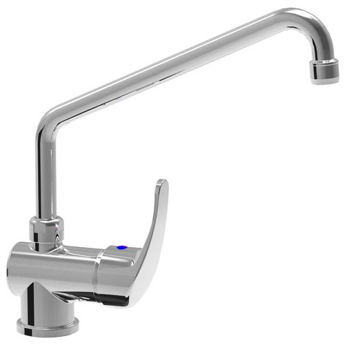 Monoblock single lever mixer tap with adjustable spout d. 18