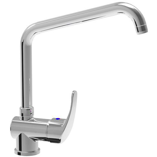Monoblock single lever mixer tap with adjustable spout d. 24