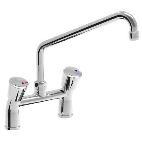 Two holes mixer tap