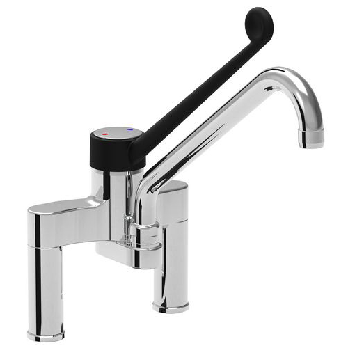 Two holes single lever mixer tap Slim with diameter 22 spout