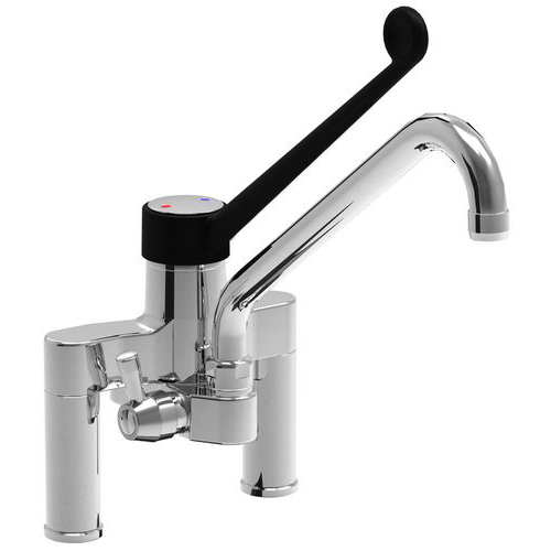 Two holes single lever mixer tap Slim with diameter 22 spout attachment to shower units