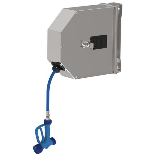 Wall mounted closed reel