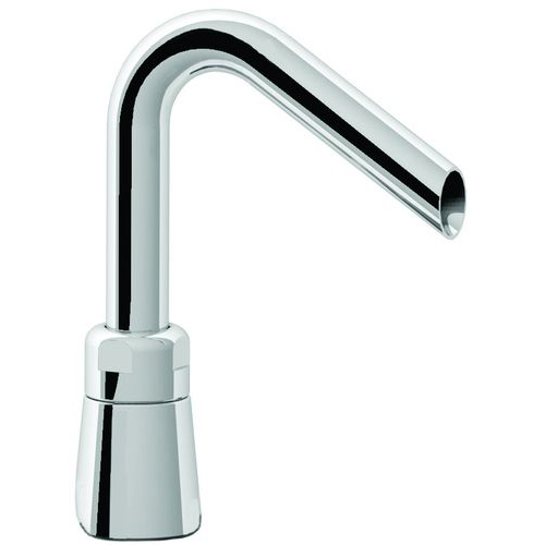Filler spout with conical base adjustable outlet