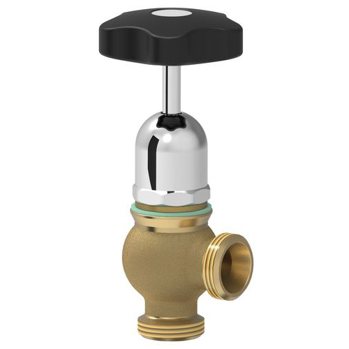 "Safety valve with round eldow coupling and 1"" male connector"