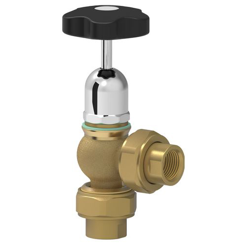 "Safety valve with round eldow coupling and 3/4"" female connector"