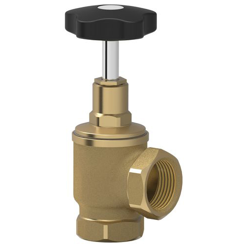 "Safety valve with eldow coupling and 1""1/4 female connector"